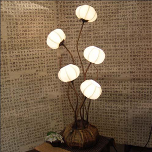 Mulberry Rice Paper Ball Handmade Five Flower Lamp