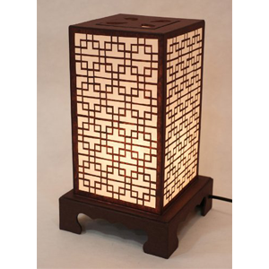 Mulberry Rice Paper Shade Lattice Pattern Lamp
