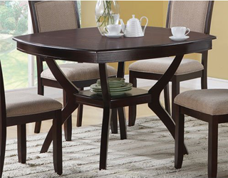 Coaster Rounded square table