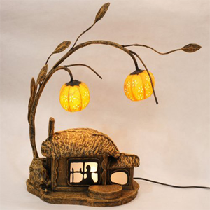 Mulberry Rice Paper Ball Handmade Cottage Lamp