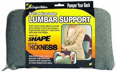 10. MASTER Caster Lumbar Support Cushion