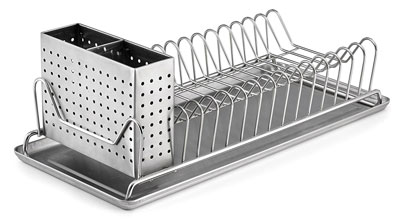 7. Polder 6115-75 Stainless Steel Dish Rack with Utensil Holder