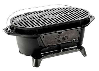 7. Lodge L410 Pre-Seasoned Sportsman's Charcoal BBQ Grill