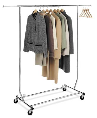 2. ExecuSystems Collapsible Clothing Rack