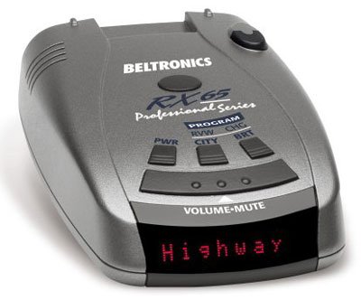 6. Beltronics RX65-Red Radar Detector