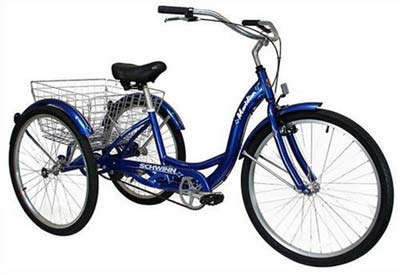 3. Schwinn Meridian 3-Wheel Adult Bike