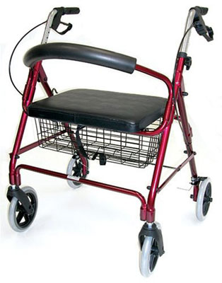 6. Duro-Med Extra Wide Folding Rollator Walker