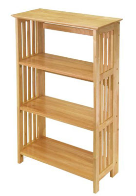 6. Winsome Wood 4-Tier Natural Foldable Shelf