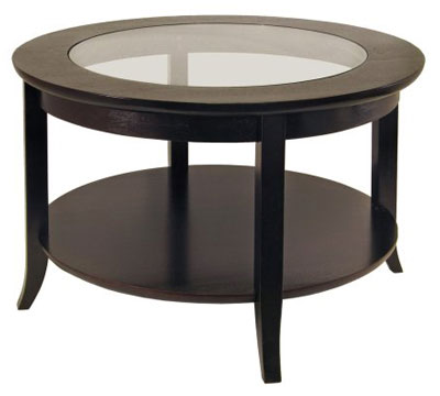 8. Winsome Wood Espresso Round Coffee Table