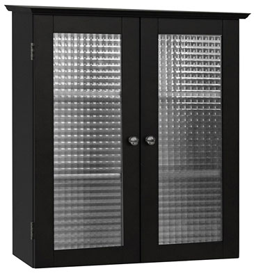 7. Elegant Home Fashions Wall Cabinet with Two Glass Doors