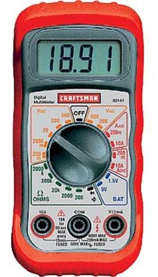 3. Craftsman 34-82141 Multimeter