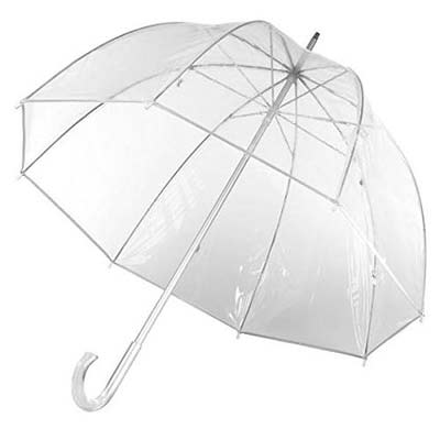 8. Totes Clear Bubble Umbrella