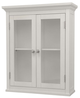 1. Elegant Home Fashions White Shelved Wall Cabinet