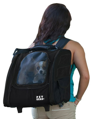 7. Pet Gear I-GO2 Traveler Roller Backpack