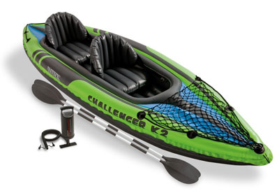 10. Intex Challenger K2 2-Person Inflatable Kayak Set