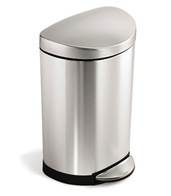 7. simplehuman 10 L/ 2.6 Gal Stainless Steel Trash Can