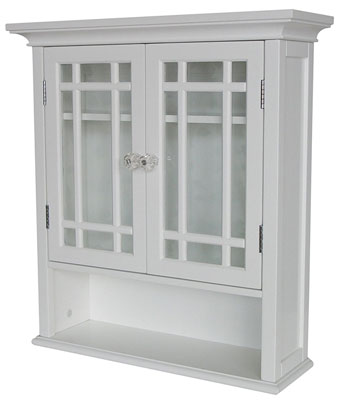 10. Elegant Home Fashions White Shelved Wall Cabinet with Cubby