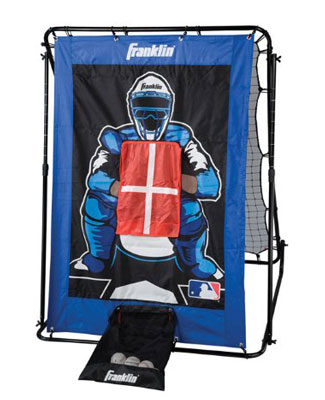 2. Franklin Sports MLB 2-in-1 Pitch Target & Return Trainer Set