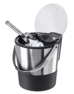 2. Oggi Ice Bucket with Stainless Steel Ice Scoop and Flip Lid