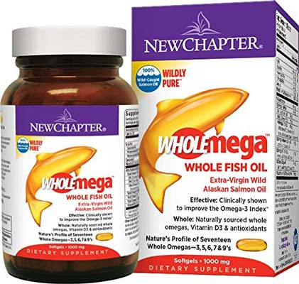 8. New Chapter Wholemega Fish Oil Supplement