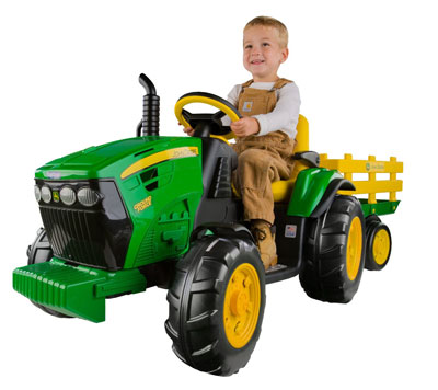 1. Peg Perego Tractor with Trailer