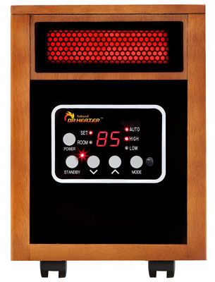 8. Dr Infrared Heater 1500-Watt Portable Space Heater