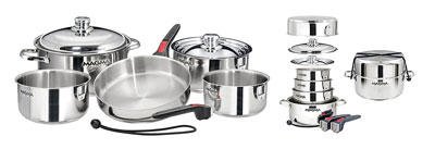 9. Magma A10-360L 10 Piece Stainless Steel Cookware