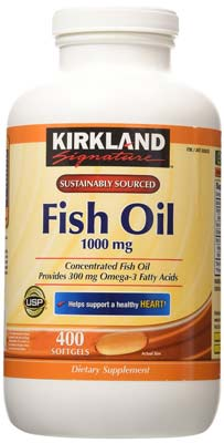 1. Kirkland Signature Fish Oil Concentrate