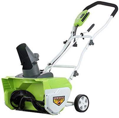 9. GreenWorks 26032 Corded Snow Thrower