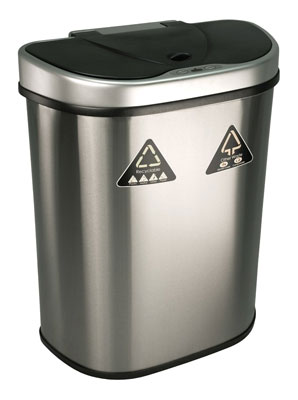 9. Nine Stars 18.5-Gallon Stainless Steel Trash Can