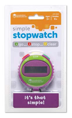 4. Simple Stopwatch by Learning Resources