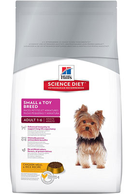 9. Hill's Science Diet Small & Toy Breed Dry Dog Food