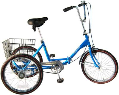 9. Worksman Blue Adult Tricycle