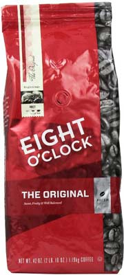 7. Eight O'Clock Coffee Whole Bean