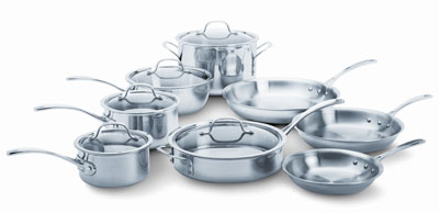 6. Calphalon Stainless Steel 13-Piece Cookware Set