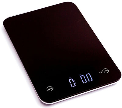 9. Ozeri Tempered Glass Digital Kitchen Scale