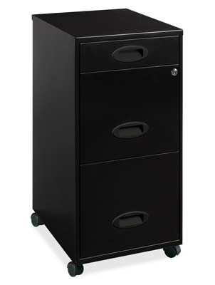 10. Lorell 3-Drawer File Cabinet (17427)