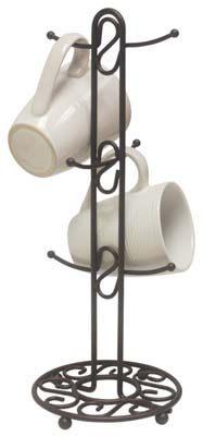 3. Home Basics Mug Tree (Scroll Collection)