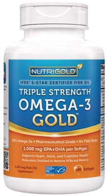 5. Nutrigold Triple Strength Fish Oil Supplement