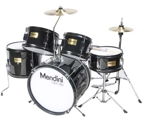 3. Mendini MJDS-5-BK Black Junior Drum Set