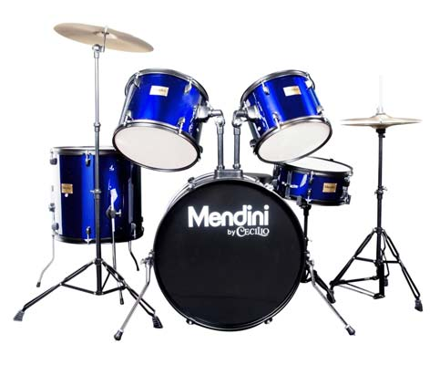 8. Mendini MDS80-BL Drum Set