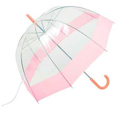 7. All-Weather Clear Dome Bubble Umbrella
