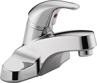 4. Peerless P131LF Chrome Single Handle Bathroom Faucet