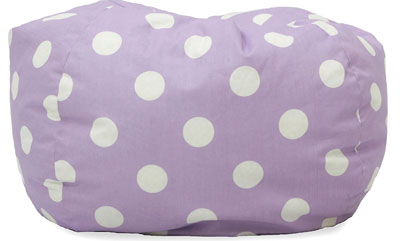 3. Big Joe Lavender Polka Dot Bean Bag Chair
