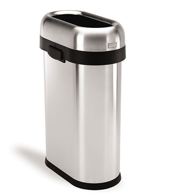 10. simplehuman 50 L/ 13 Gal Stainless Steel Trash Can