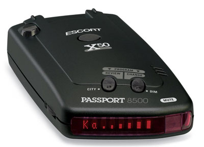 9. Escort 8500X50 Black Radar Detector