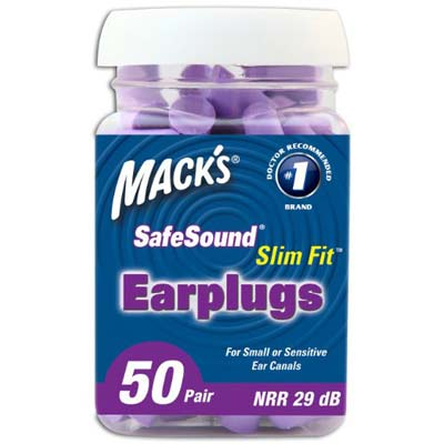 7. Mack's Ear Care Slim Fit Soft Foam Earplugs
