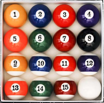 2. Iszy Billiards Ball Set (Art Number Style)