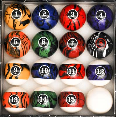 6. Iszy Billiards Pool Table Ball Set