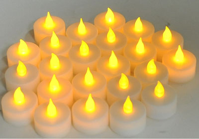 10. Instapark LCL Flameless LED Tealight Candles